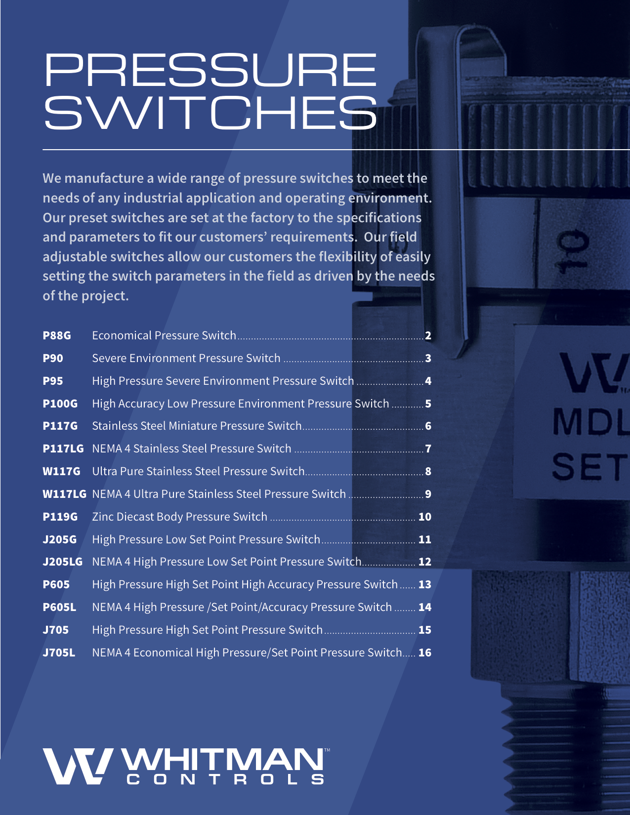 Pressure Switches Catalog