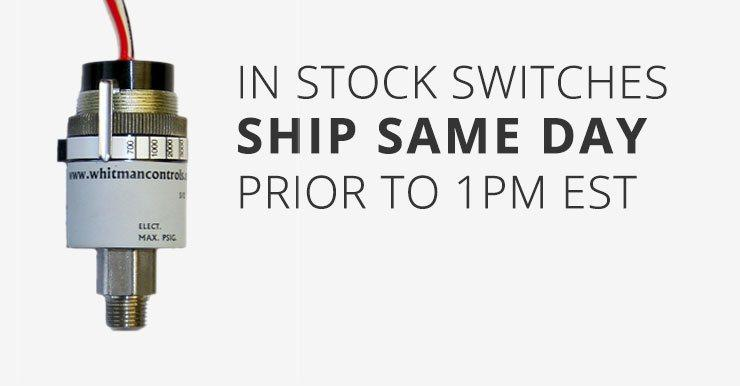 in-stock switches ship same day prior to 1pm EST