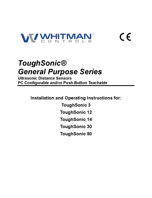 ToughSonic General Purpose Series User Manual