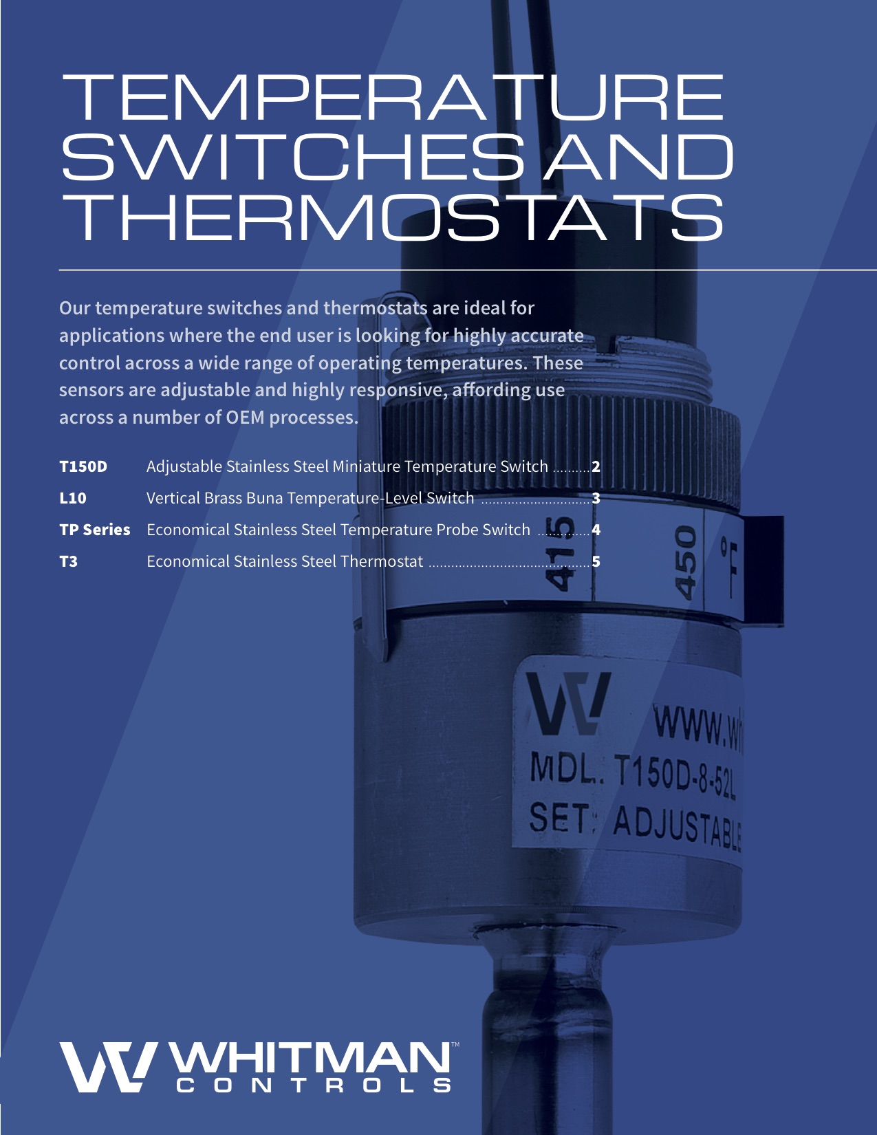 temperature level switch catalog