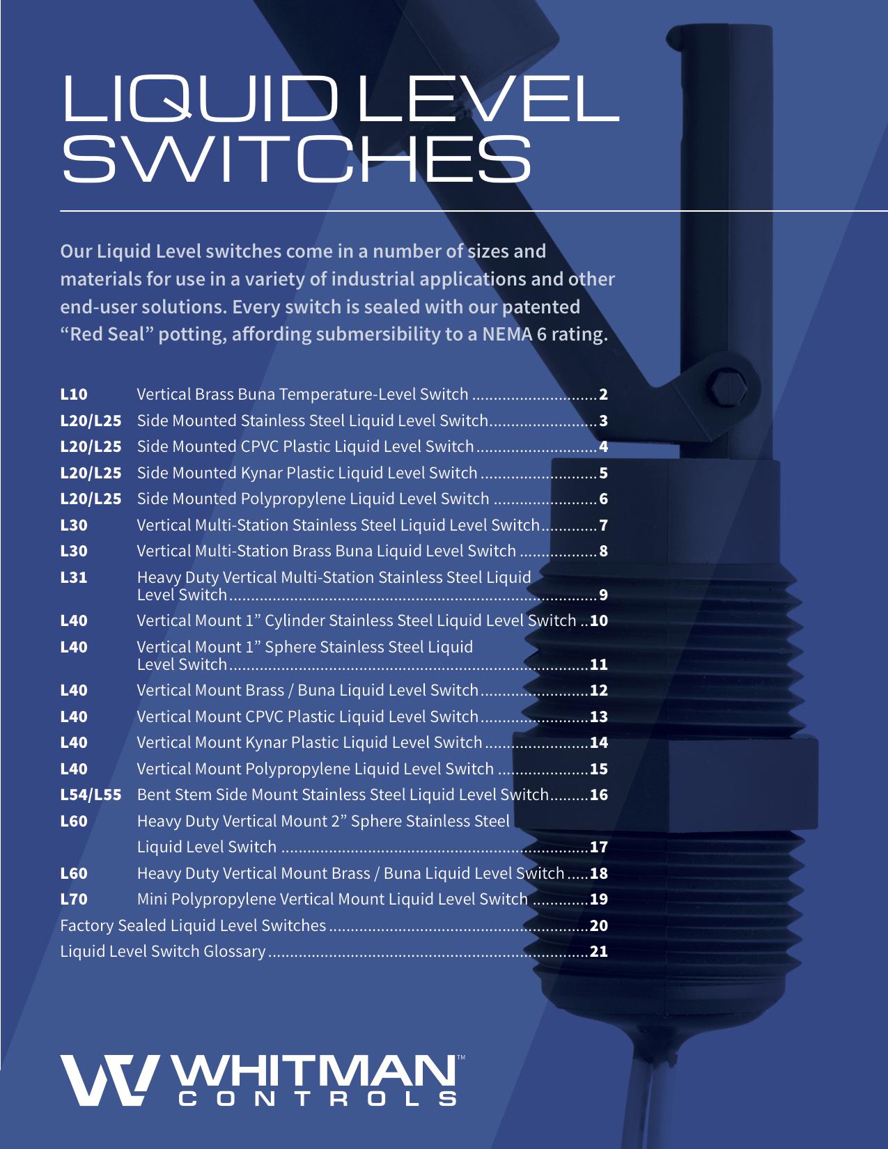 liquid level switch catalog